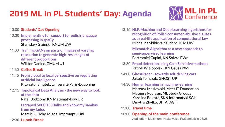Students Day Agenda